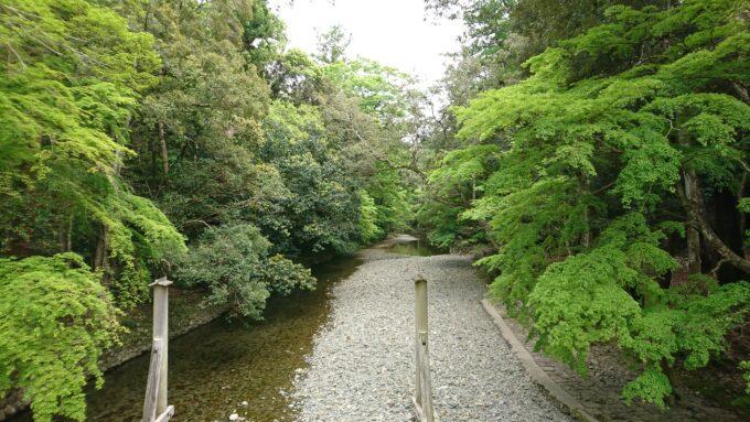 五十鈴川上流方面